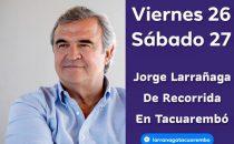 Jorge Larrañaga visita Tacuarembó y el acto del viernes será en Club Estudiantes a las 20 horas