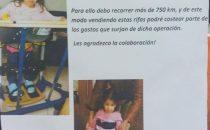 Milagros es de Curtina y debe operarse  en Argentina para Caminar , necesita de colaboración de Todos