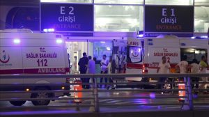 Ambulance cars arrive at Turkey s largest airport  Istanbul Ataturk  Turkey  following a blast June 28  2016      REUTERS Osman Orsal