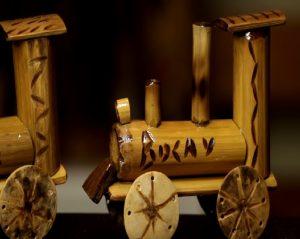 bambu juguete locomotora